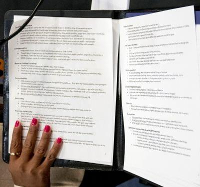 The notes Mark Zuckerberg used for his congressional hearing show he was extensively coached for one of the biggest moments of his career