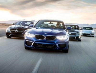 Power Drunk: The New BMW M5 Takes On the CTS-V, E63 S, and Panamera Turbo!