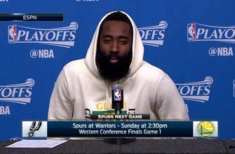 James Harden: 'They just dominated'