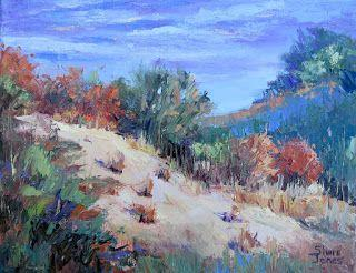 Autumn's Color Style, New Contemporary Landscape Painting by Sheri Jones