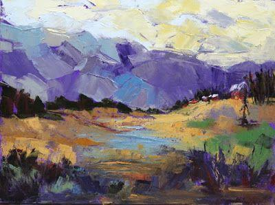 """Contemporary Impressionist Colorado Landscape Painting, Fine Art Oil Painting """"Nature's Legacy"""" by Colorado Contemporary Fine Artist Jody Ahrens"""