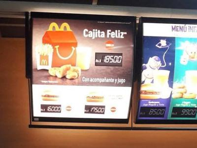 Venezuela's hyperinflation is so bad that a McDonald's Happy Meal briefly cost more than a month's salary