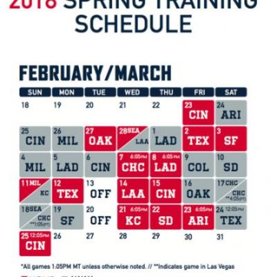 Cleveland Indians 2018 spring training schedule opens with Cincinnati Reds on Feb. 23