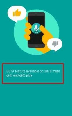 Latest Moto Voice App Version References Moto G6 & G6 Plus