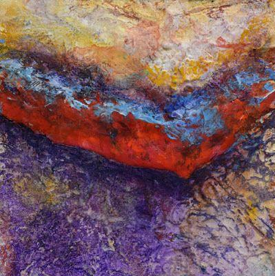 "Mixed Media Art, Contemporary Painting, Abstract Art ""Dancing Paint"" by Santa Fe Contemporary Artist Sandra Duran Wilson"