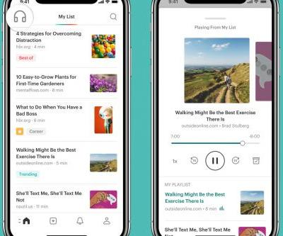 Pocket redesigns its mobile apps to emphasize listening