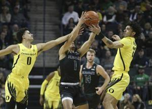 No. 13 Ducks stop a 2-game slide with 89-64 win over Hawaii
