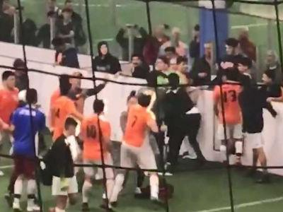 Soccer brawl: Watch as video shows youth soccer player punching referee