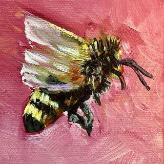 Bee Beautiful, by Melissa A. Torres, 3x3 oil on canvas