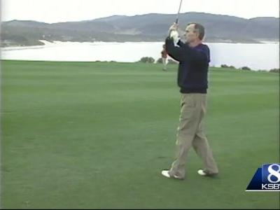 President George H.W. Bush at AT&T Pebble Beach Pro Am in mid-90's