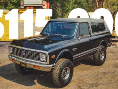 A 1972 Chevy Blazer Just Sold For $115,000 On Bring A Trailer So Hope You Won't Miss Things Making Sense