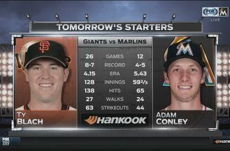 After sweeping the Rockies, Marlins face Giants