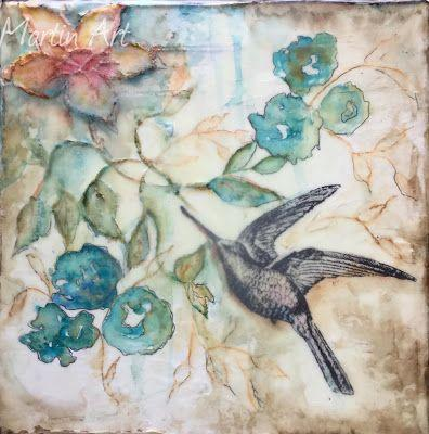 """""""Infinity"""", Original Mixed Media Painting/Encaustic by Colorado Artist, Donna L. Martin"""