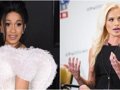 Cardi B is feuding with Fox News pundit Tomi Lahren over the government shutdown: 'Leave me alone I will dog walk you'