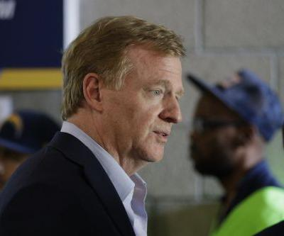 NFL commissioner talks amid controversy over national anthem protests