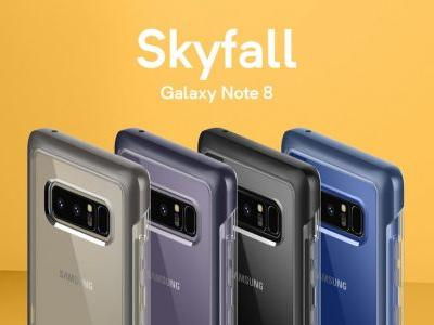 Invisible Protection For Galaxy Note 8 With Caseology Skyfall Case