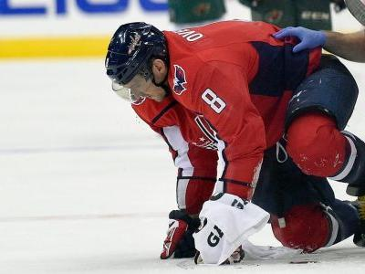 Ovechkin returns after taking puck to face, Capitals defeat Wild