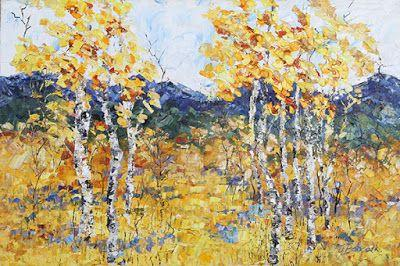 """Original Palette Knife Mountain Landscape Painting """"Rocky Mountain Symphony III"""" by Colorado Impressionist Judith Babcock"""