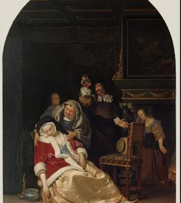 Frans van Mieris, the elder. Born on this day in 1635