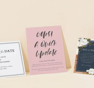 Zola is offering free change-the-date cards to couples who have already sent save-the-dates or invites using its service and have to postpone their weddings