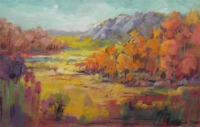 "Impressionist Landscape, Mountain Landscape, Trees, Fine Art Oil Painting ""Gateway Cow Camp"" by Colorado Contemporary Fine Artist Jody Ahrens"