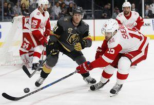 Nyquist has 2 goals, Red Wings rally past Golden Knights 6-3