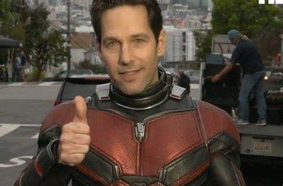 Paul Rudd Shows Off New Ant-Man 2 Costume in Funny Q&A