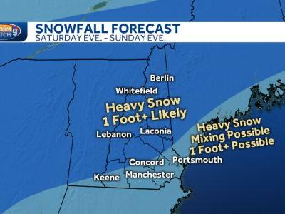Snow in NH Friday morning before stronger weekend snowstorm