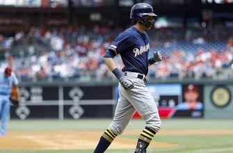 WATCH: Brewers star Yelich hits 17th, 18th home runs