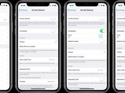 IOS 12: How to enable Do Not Disturb at Bedtime