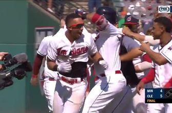 HIGHLIGHT: Michael Brantley's RBI single gives Indians' back-to-back walk-off wins