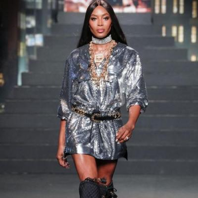 Naomi Campbell slayed the runway at the Moschino x H&M launch