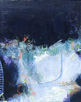 """Contemporary Abstract Expressionist Painting """"ACCEPTING IT ALL"""" by Contemporary Expressionist Pamela Fowler Lordi"""