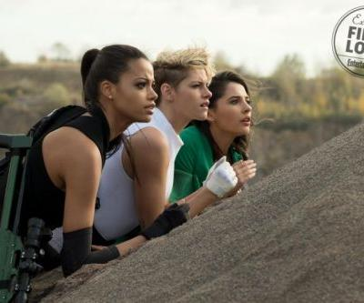 Here's your first look at Kristen Stewart, Naomi Scott, and Ella Balinska in the new Charlie's Angels sequel