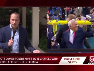 Police: Kraft among 25 men charged with soliciting prostitution