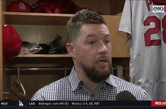 Bud Norris on his shutdown ninth inning against the Padres