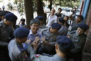 Journalists in Myanmar court over charges from secrets law