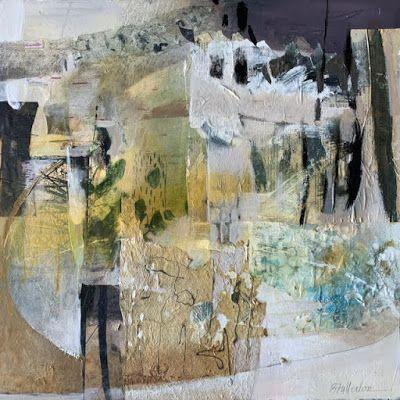 """Contemporary Intuitive Abstract Painting """"ORCHESTRATING NEW VISIONS"""" by Intuitive Artist Joan Fullerton"""