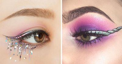 Stop with your simple eye makeup: Unicorn horn eyeliner is here