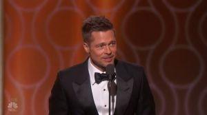 Brad Pitt Makes A Surprise Appearance At The Golden Globes