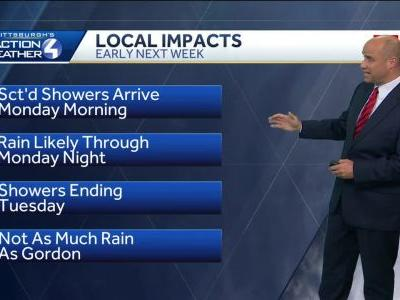 Timeline: Potential impacts of remnants of Hurricane Florence in Pittsburgh area