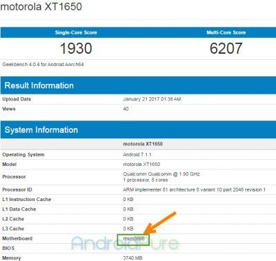 Moto Z (2017) Leaks in GeekBench Benchmark, With Snapdragon 835 Chipset, 4 GB of RAM