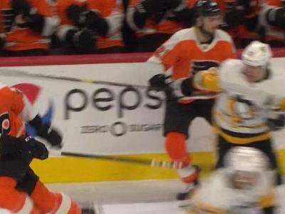 Penguins' Malkin ejected after swinging stick at head of Flyers' Raffl