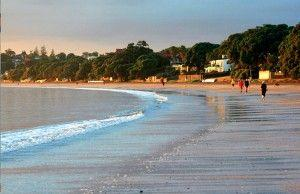 Takapuna beach, Auckland is hyped with the cruise tourism