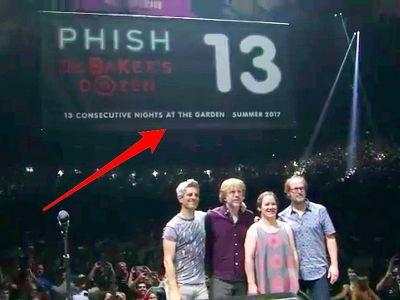 The banner honoring Phish's historic 13-night run in Madison Square Garden will remain - but there's a catch