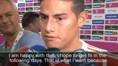 James happy with Bayern debut
