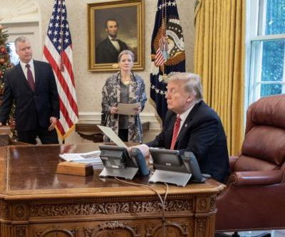 Trump Tweets Out Picture in Oval Office on Christmas Eve: 'Looking Forward to My Next Summit with Chairman Kim'
