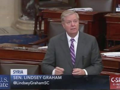 Lindsey Graham Rips Trump on Senate Floor: To Say ISIS is Defeated is 'Fake News'