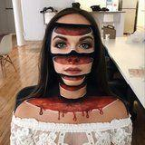 """You Won't Be Able to Unsee These Trippy """"Sliced"""" Halloween Makeup Looks"""