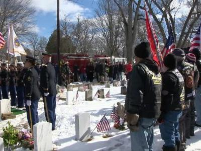A fitting sendoff for a fallen World War II hero without any family